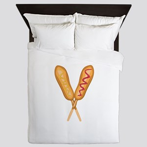 Corn Dogs Queen Duvet