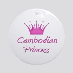 Cambodian Princess Ornament (Round)
