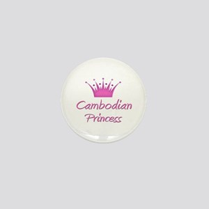 Cambodian Princess Mini Button