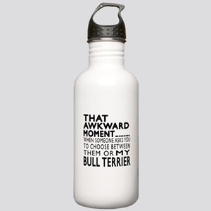 Awkward Bull Terrier D Stainless Water Bottle 1.0L