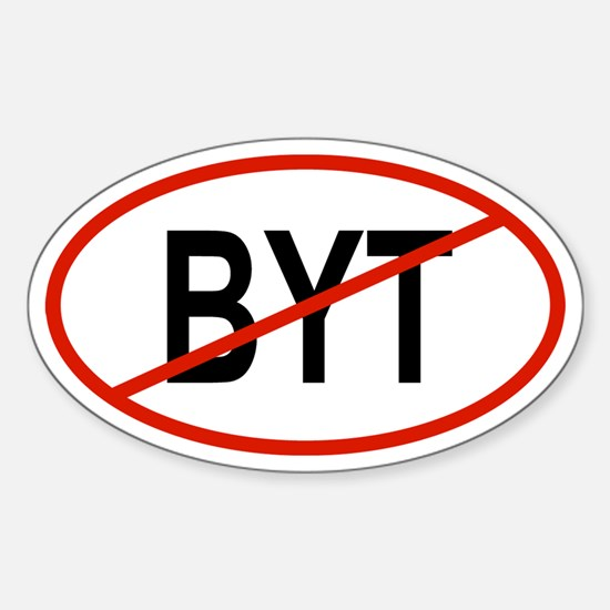 BYT Oval Decal
