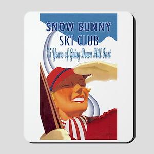 Snow Bunny Ski Club Mousepad