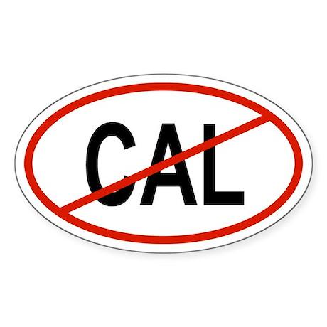 CAL Oval Sticker