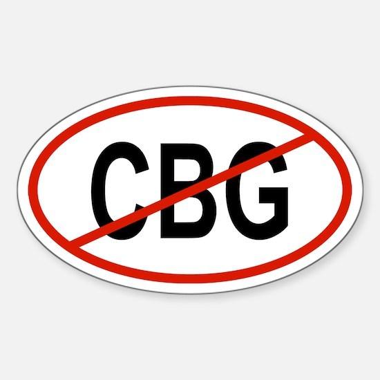 CBG Oval Decal