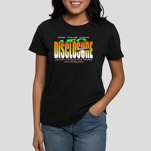 UFO Disclosure its time Black Women's Dark T-Shirt