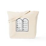 Ten Commandments Tote Bag