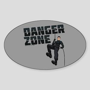 Archer Danger Zone Sticker (Oval)