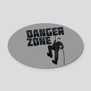 Archer Danger Zone Oval Car Magnet