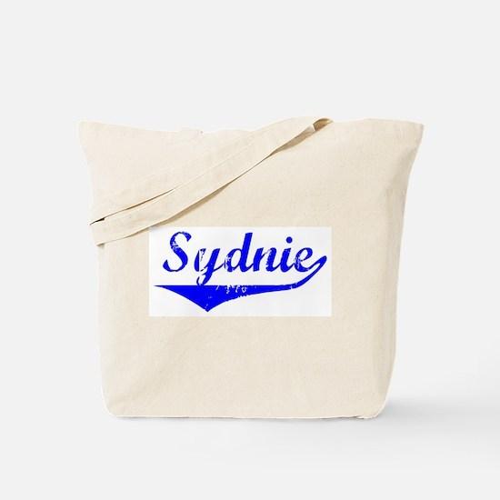 Sydnie Vintage (Blue) Tote Bag