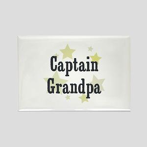 Captain Grandpa Rectangle Magnet