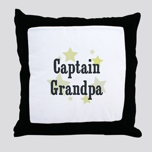 Captain Grandpa Throw Pillow