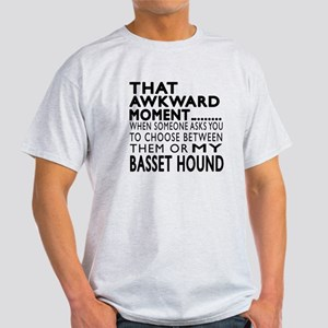 Awkward Basset Hound Dog Designs Light T-Shirt