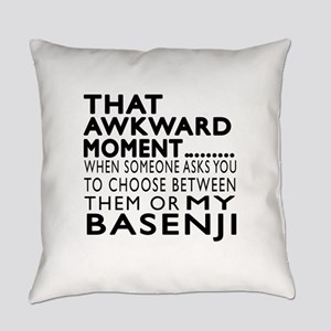 Awkward Basenji Dog Designs Everyday Pillow