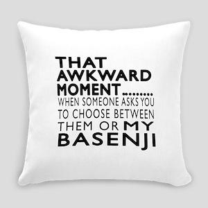 Awkward Basenji Dog Designs Everyday Pillow