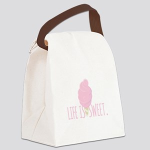 Life Is Sweet Canvas Lunch Bag