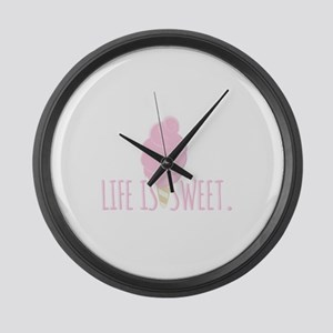Life Is Sweet Large Wall Clock