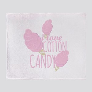 Love Cotton Candy Throw Blanket
