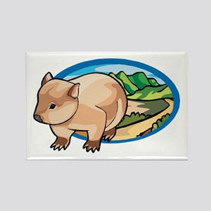 Australia Wombat Rectangle Magnet