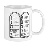 Ten Commandments Mug