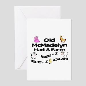 Old McMadelyn Had a Farm Greeting Card