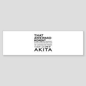 Awkward Akita Dog Designs Sticker (Bumper)