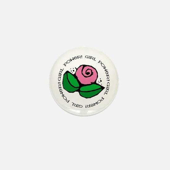 Girl Power Flower Mini Button