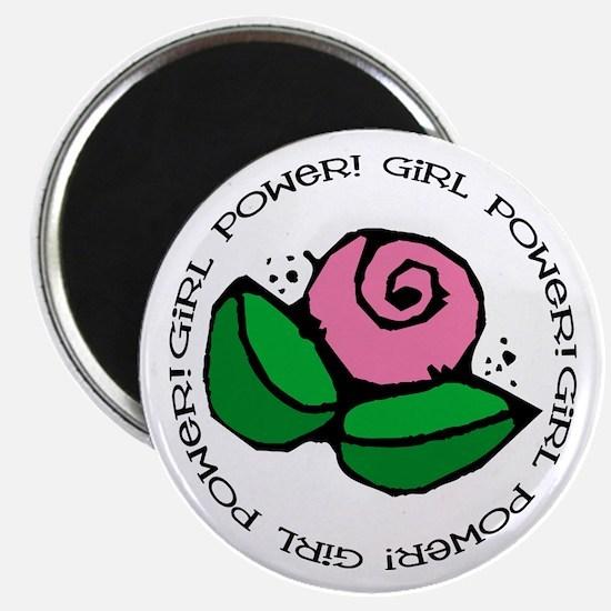 """Girl Power Flower 2.25"""" Magnet (10 pack)"""