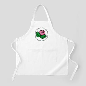 Girl Power Flower BBQ Apron