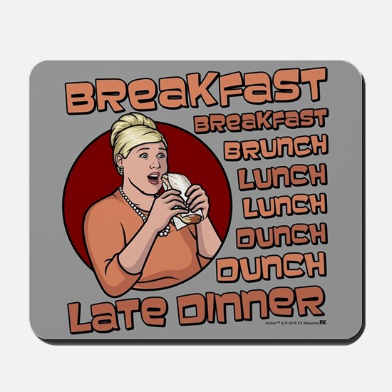 Archer Pam Hungry Mousepad