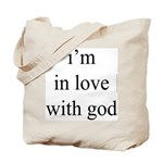 331. i'm in love with god. . Tote Bag