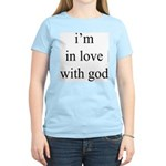 331. i'm in love with god. . Women's Pink T-Shirt