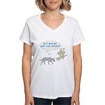 Where Are The Sheep? v2 Women's V-Neck T-Shirt