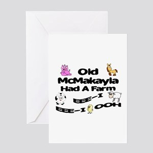 Old McMakayla Had a Farm Greeting Card