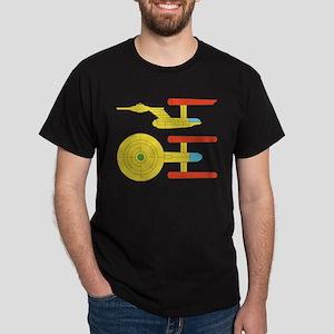 Enterprise Bridge Panel Dark T-Shirt