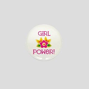 Flower Girl Power Mini Button