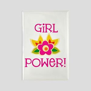 Flower Girl Power Rectangle Magnet
