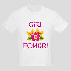 Flower Girl Power Kids Light T-Shirt