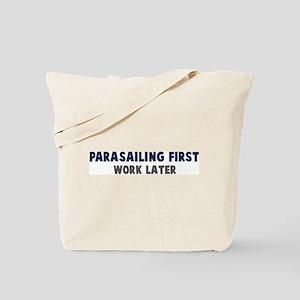 Parasailing First Tote Bag