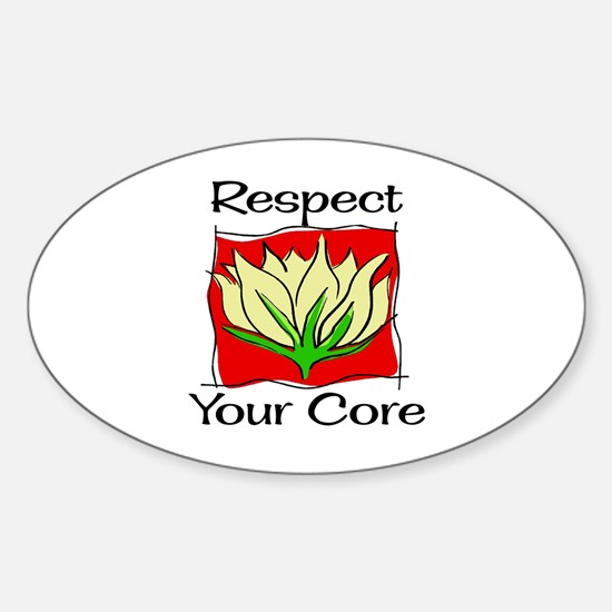 Pilates Respect Your Core Oval Decal