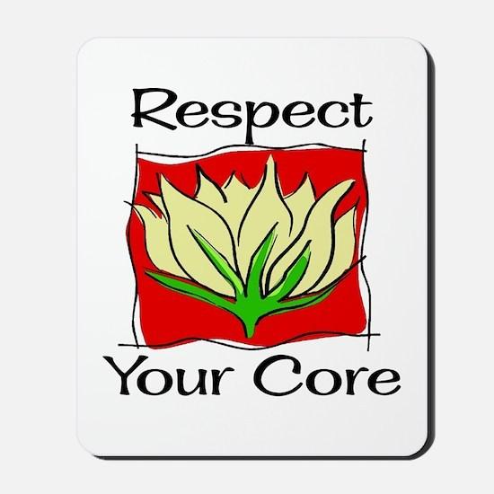 Pilates Respect Your Core Mousepad