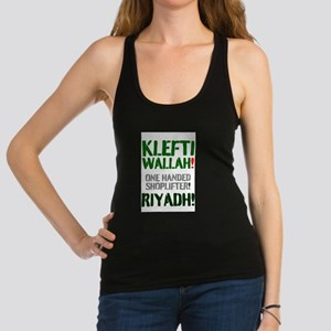 KLEFTI WALLAH - ONE HANDED SHOP Racerback Tank Top