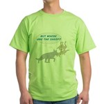 Where Are The Sheep? v3 Green T-Shirt