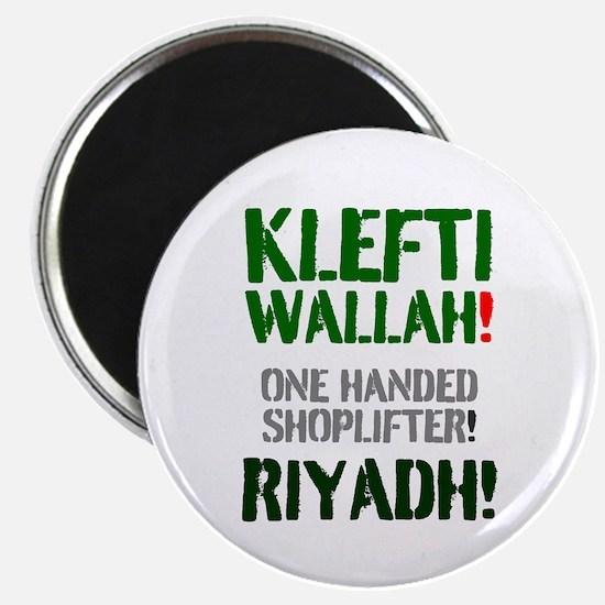KLEFTI WALLAH - ONE HANDED SHOPLIFTER - RI Magnets