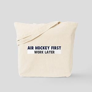 Air Hockey First Tote Bag