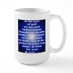 329. in the eyes of god... Large Mug