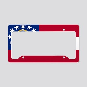 Flag Of Georgia License Plate Holder