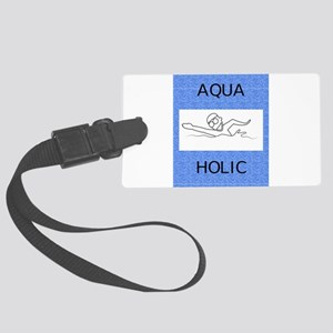 Aquaholic Large Luggage Tag