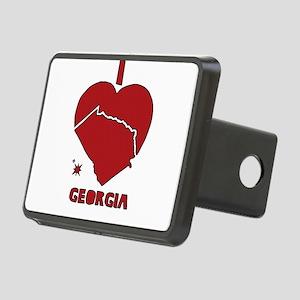 I Love Georgia Rectangular Hitch Cover