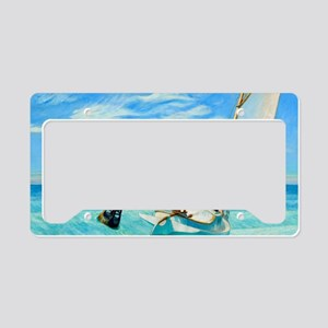 Ground Swell by Edward Hopper License Plate Holder