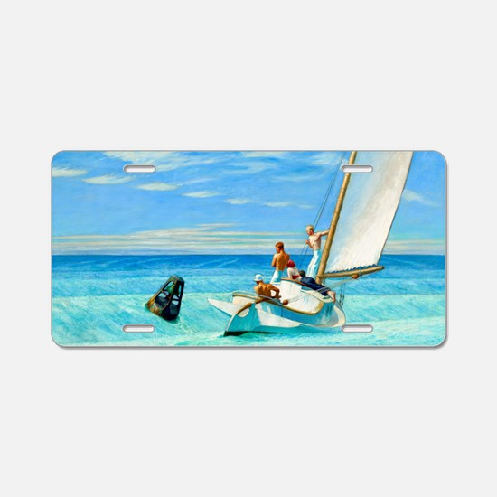 Ground Swell by Edward Hopper Aluminum License Pla
